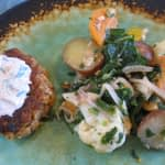 CURRIED SALMON BURGERS WITH A CURRY YOGURT SAUCE