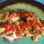 BAKED COD IN A TOMATO BASIL FENNEL SAUCE