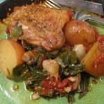 SAGE CHICKEN IN A TOMATO RED WINE SAUCE